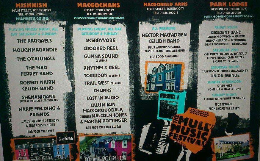 Mull Music Festival 2013 poster