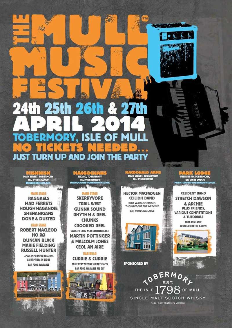 Mull Music Festival 2014 poster