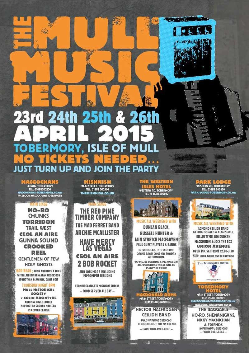 Mull Music Festival 2015 poster
