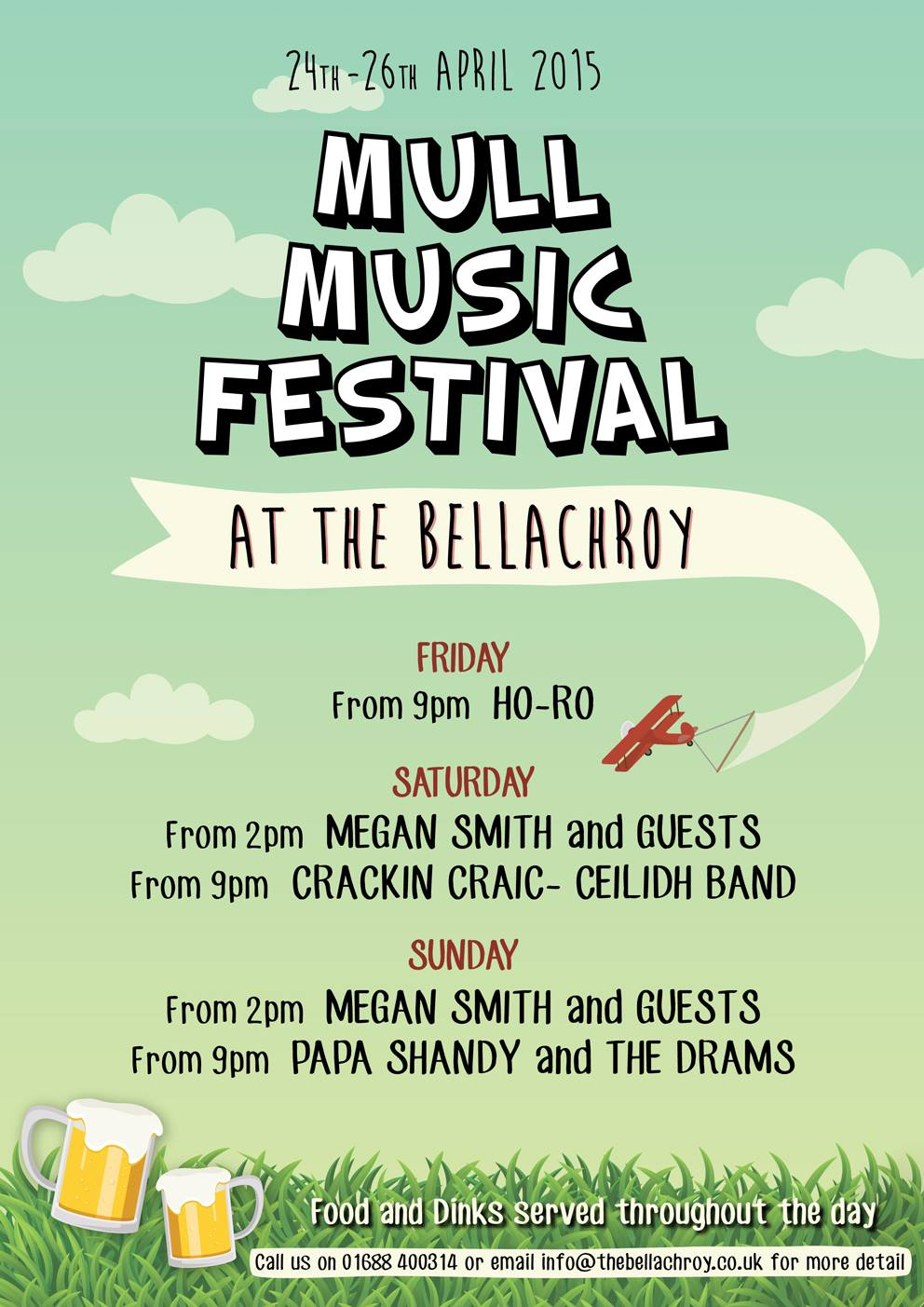 Mull Music Festival programme 2015 at the Bellachroy Hotel