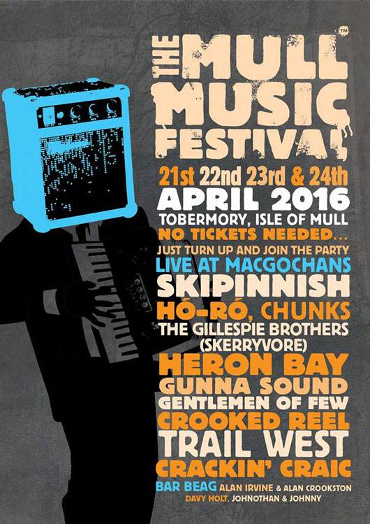 Isle of Mull Music Festival programme 2016 for MacGochans Tobermory