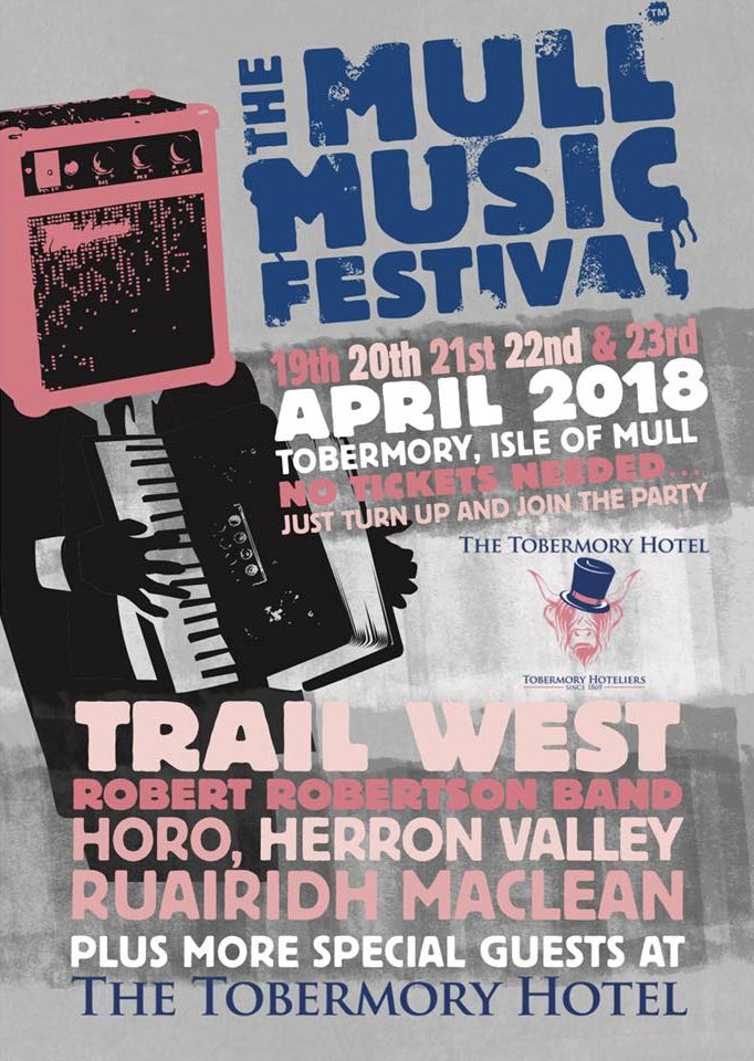 Mull Music Festival 2018 at the Tobermory Hotel