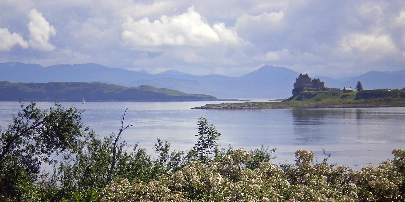 View of Duart Castle near Craignure