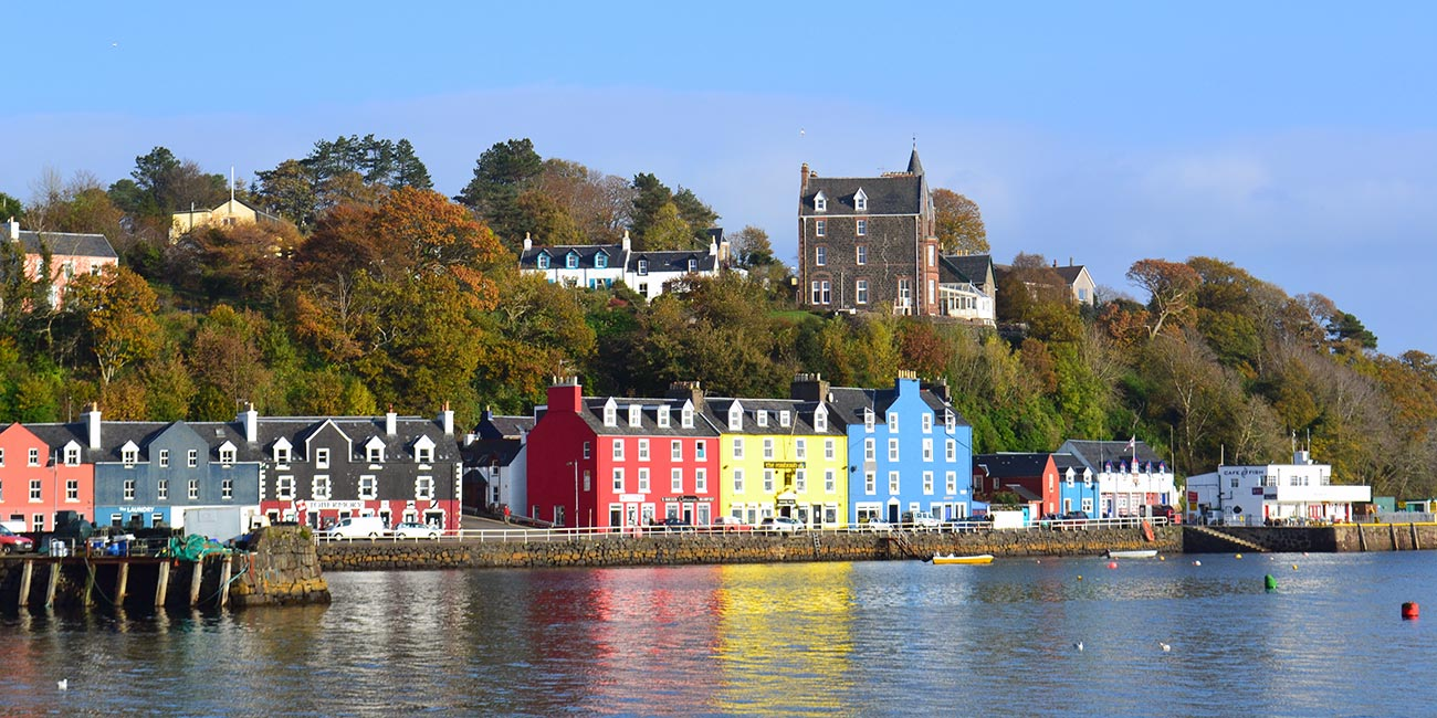 Tobermory Mishnish buildings and Back Brae Lodge