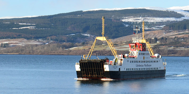 ferry to Mull arriving at Fishnish from     Lochaline